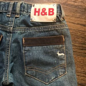 Harmont & Blaine Bottoms - Kids harmony and Blaine jeans with suede patches